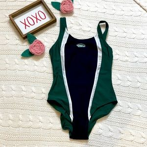NFL Jets Girls Green One Piece swimsuit